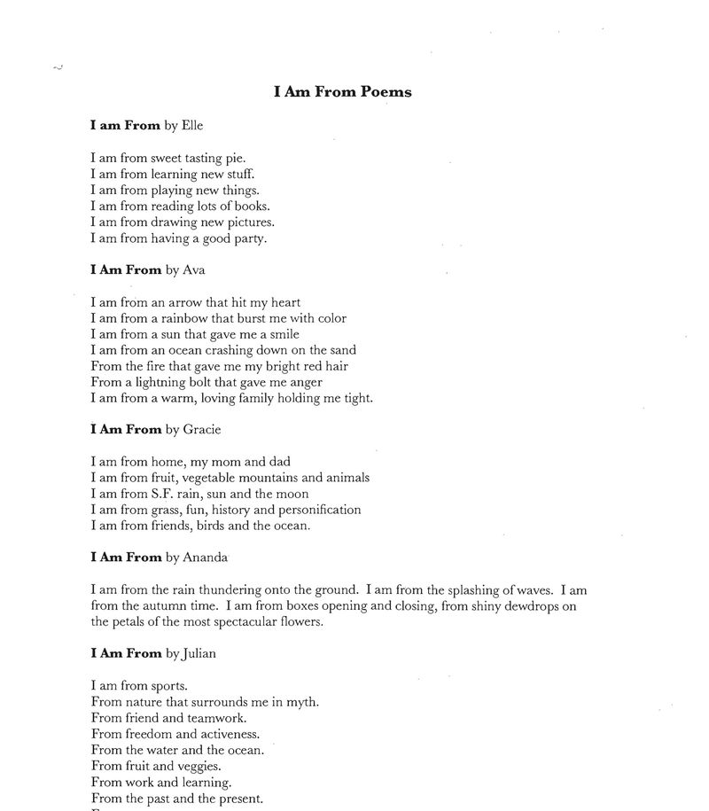 Miraloma I Am From Poems-1