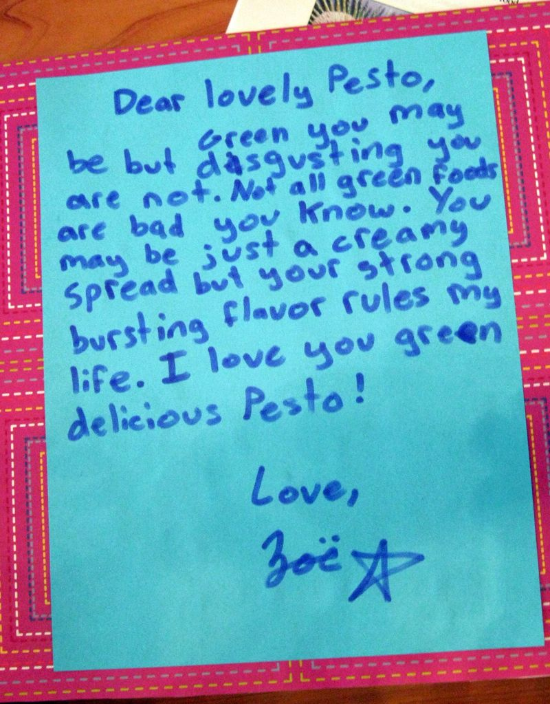 Dear lovely Pesto
