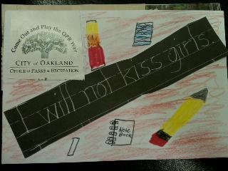 Sophie's handmade postcard
