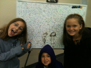 Look what we did with the white board!