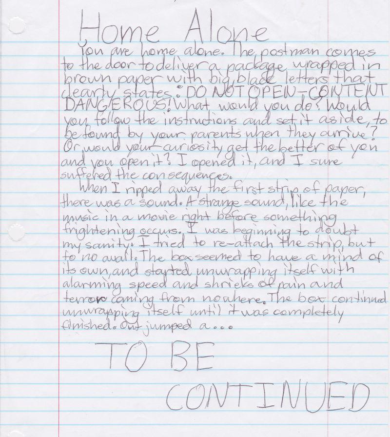 Chabot_Tess_Home Alone 1