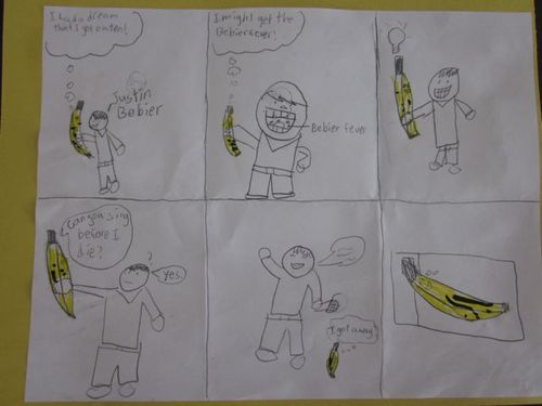 Andy'scomicof the banana'sdream