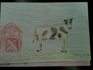 Hannah's handmade postcard