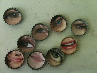 Bottle cap eyes